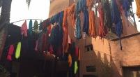 Laine teinte, souk de Marrakech